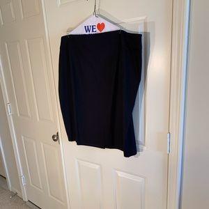 Talbots black lined pencil skirt